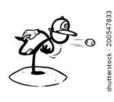 Stick Figure Baseball Softball...