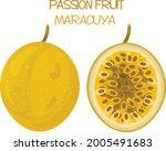 passion fruit icon illustration ... | Shutterstock .eps vector #2005491683