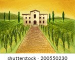 wine harvest | Shutterstock .eps vector #200550230