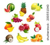 set of vector illustration... | Shutterstock .eps vector #200551040