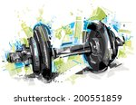 body building art | Shutterstock .eps vector #200551859