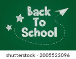 chalk text effect back to... | Shutterstock .eps vector #2005523096