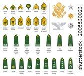 military ranks shoulder badges  ... | Shutterstock .eps vector #2005530023