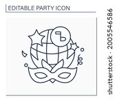 fancy dress party line icon.... | Shutterstock .eps vector #2005546586