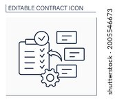 subject to contract line icon.... | Shutterstock .eps vector #2005546673