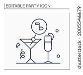 drinks party line icon. formal... | Shutterstock .eps vector #2005546679