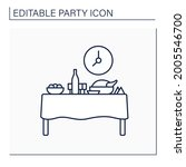 dinner party line icon. formal... | Shutterstock .eps vector #2005546700