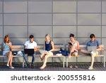 college students internet...   Shutterstock . vector #200555816