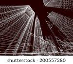 city buildings | Shutterstock . vector #200557280