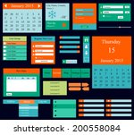 vector templates for website ... | Shutterstock .eps vector #200558084