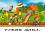 kids having fun on the... | Shutterstock . vector #200558150