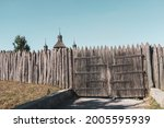 Wooden Medieval Fence And Gates ...