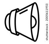 loud speaker icon. outline loud ...   Shutterstock .eps vector #2005611953