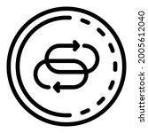 two refresh signs in a circle... | Shutterstock .eps vector #2005612040