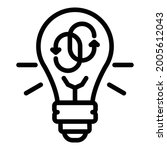 refresh signs in a bulb icon.... | Shutterstock .eps vector #2005612043