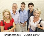 mixed group of students outside ... | Shutterstock . vector #200561840
