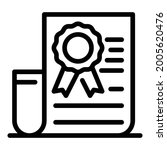 form with official stamp icon....   Shutterstock .eps vector #2005620476