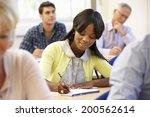 student in class | Shutterstock . vector #200562614