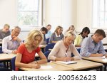 mixed group of students in class | Shutterstock . vector #200562623