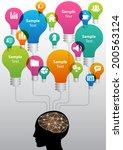 colorful creative idea concept... | Shutterstock .eps vector #200563124