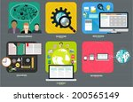 set of flat design elements for ... | Shutterstock .eps vector #200565149