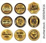 golden metal badges | Shutterstock .eps vector #200569616