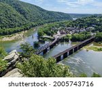 Confluence of the Shenandoah and Potomac Rivers from the Maryland Heights Overlook, Harpers Ferry National Historical Park, West Virginia