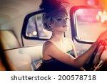 portrait of beautiful sexy... | Shutterstock . vector #200578718
