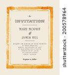 wedding invitation with... | Shutterstock .eps vector #200578964
