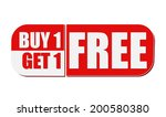 buy one get one free   text in... | Shutterstock .eps vector #200580380
