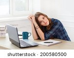 student  office. cute ... | Shutterstock . vector #200580500