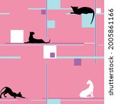 cats in different poses ... | Shutterstock .eps vector #2005861166