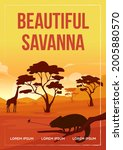 Beautiful Savanna Poster Flat...