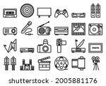 multimedia icon set. bold... | Shutterstock .eps vector #2005881176