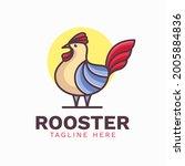 Simple Rooster Cartoon Logo...