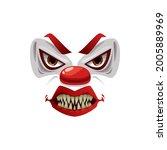 scary clown face vector icon ...   Shutterstock .eps vector #2005889969