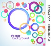 colorful circles abstract...   Shutterstock .eps vector #200590193
