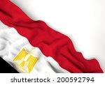 waving flag of egypt  africa ... | Shutterstock . vector #200592794