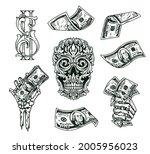 money vintage monochrome...   Shutterstock .eps vector #2005956023