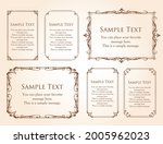 a frame set with a plant motif. ... | Shutterstock .eps vector #2005962023