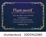 a frame set with a plant motif. ... | Shutterstock .eps vector #2005962080