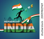 happy independence day india.... | Shutterstock .eps vector #2005982969