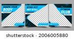 gym  fitness  workout social...   Shutterstock .eps vector #2006005880