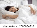 side view of sleeping asian... | Shutterstock . vector #2006034716