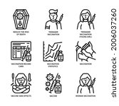 vaccination icons set outline... | Shutterstock .eps vector #2006037260