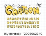 cartoon font. yellow comic... | Shutterstock .eps vector #2006062340