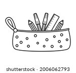 vector black and white pencil...   Shutterstock .eps vector #2006062793