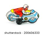 motorcycle tin toy | Shutterstock . vector #200606333