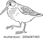 black and white cartoon...   Shutterstock .eps vector #2006087483