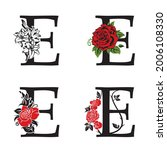 collection of letters e with... | Shutterstock .eps vector #2006108330
